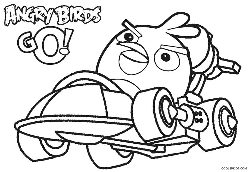 angry birds go coloring pages