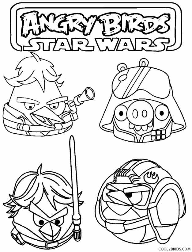 Angry Birds Star Wars Coloring Pages All Characters - Get Coloring ... | 822x627