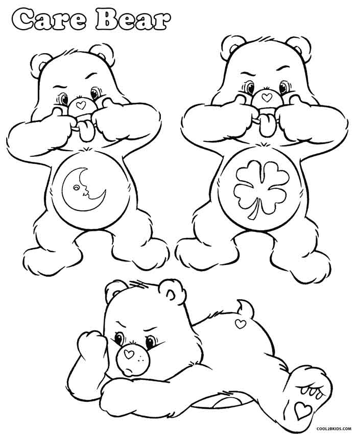 care bears coloring pages grumpy printable care bears coloring pages