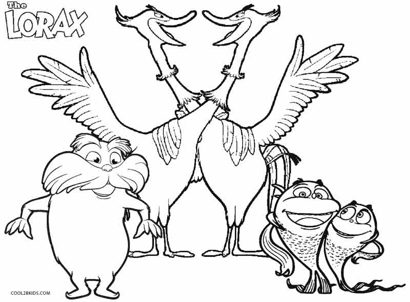 printable lorax coloring pages for kids cool2bkids