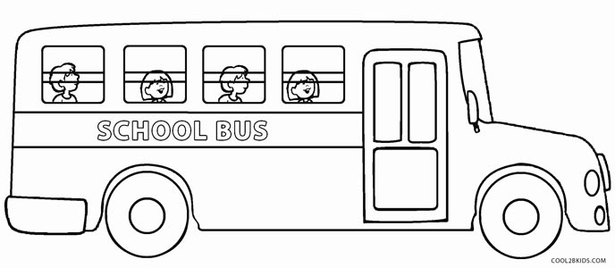 coloring pages school bus safety cooloring com