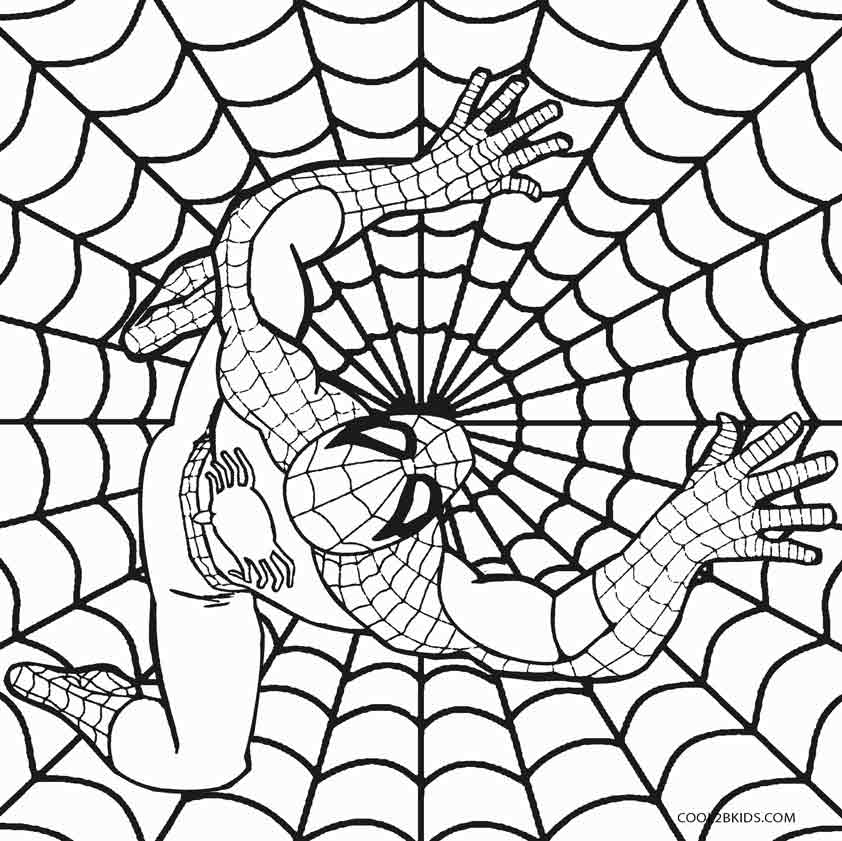 Spiderman Coloring Pages Printable Spider Man Coloring Pages The