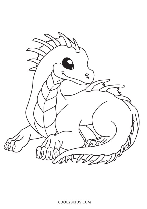 coloring pages dragon # 11