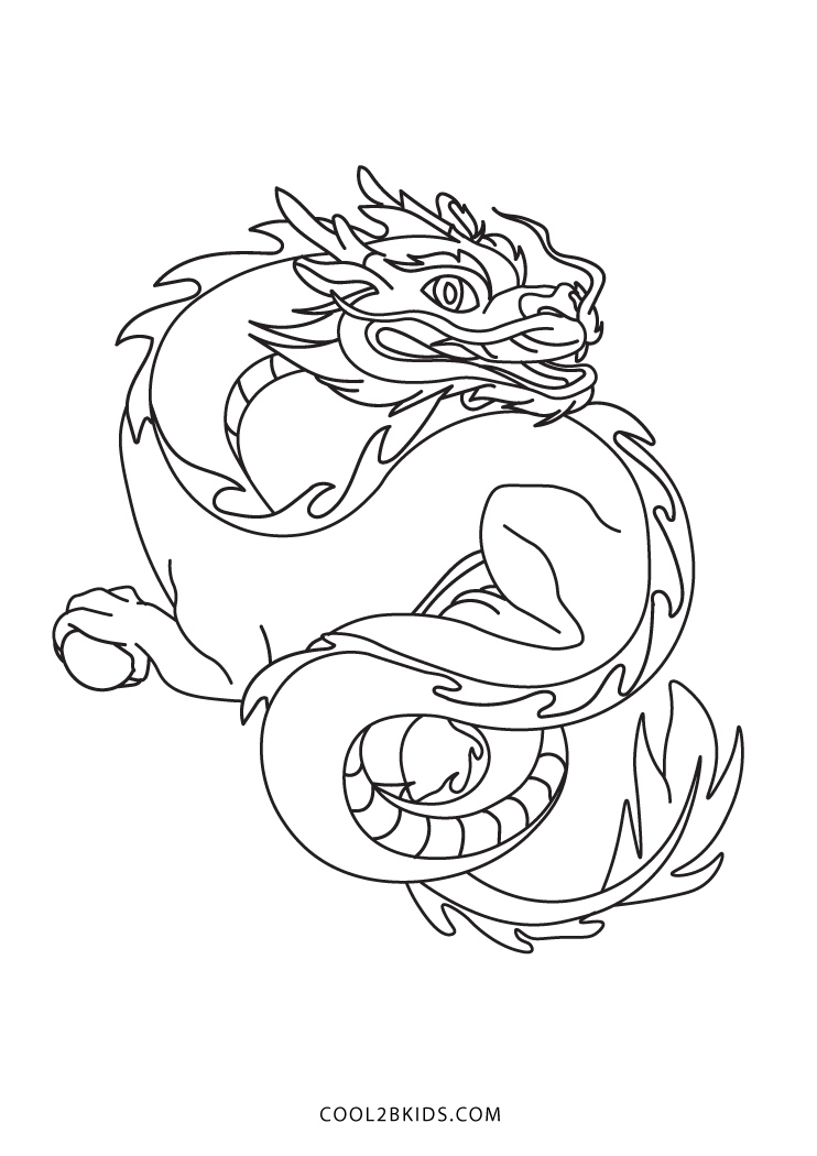 printable dragon coloring pages for kids cool2bkids