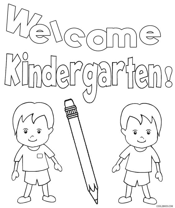 Printable Kindergarten Coloring Pages For Kids | Cool2bKids | coloring worksheets for kinder