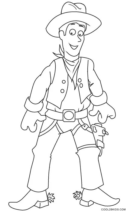 printable cowboy coloring pages for kids  cool2bkids