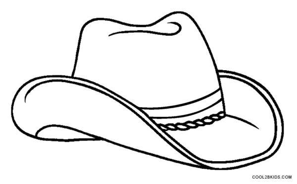 cowboy hat coloring page # 4