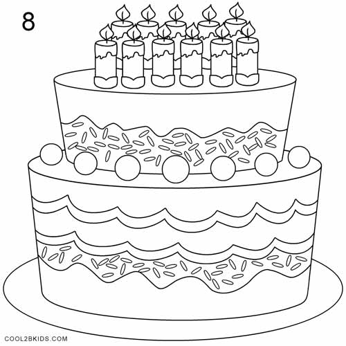 How To Draw A Birthday Cake Step By Step Pictures