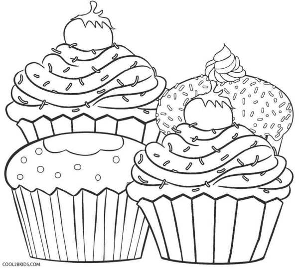 cupcakes coloring pages # 3
