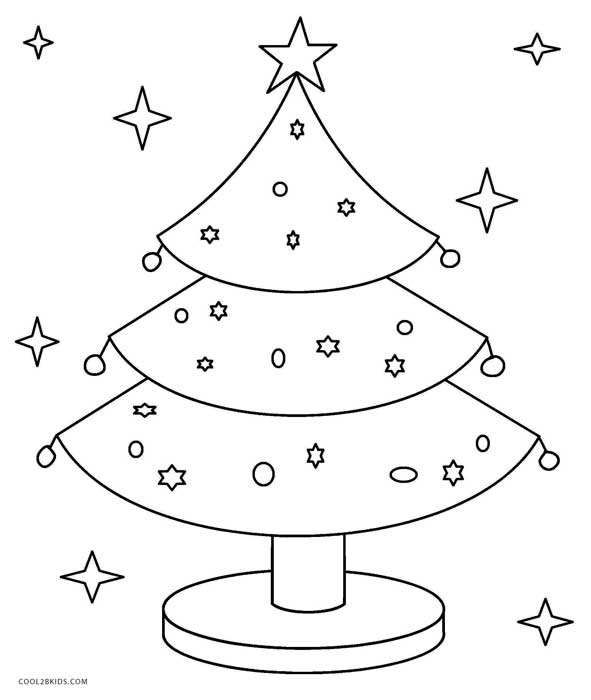 christmas trees coloring pages # 43