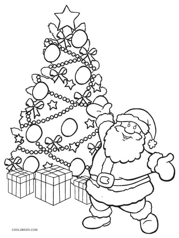 coloring pages christmas tree # 19