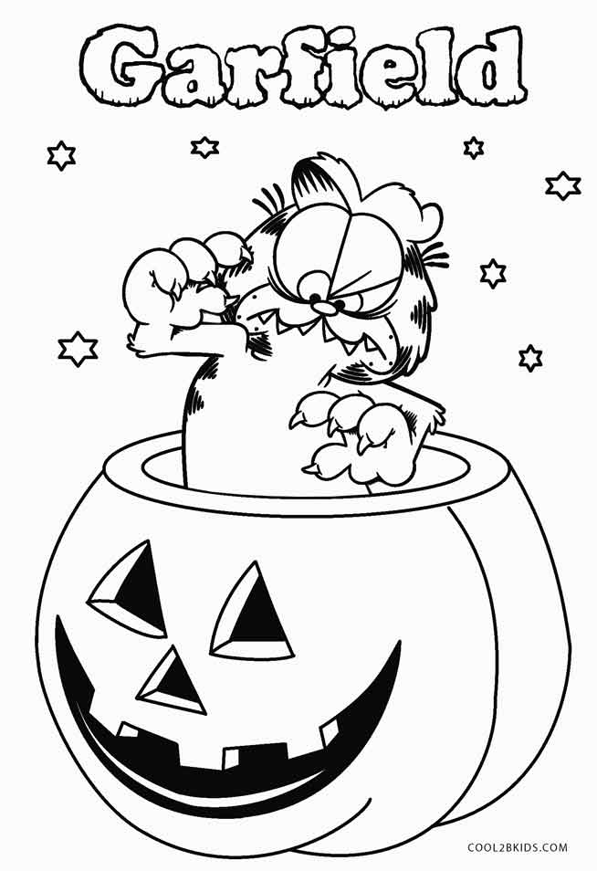 Printable Garfield Coloring Pages To Kids Cool2bKids