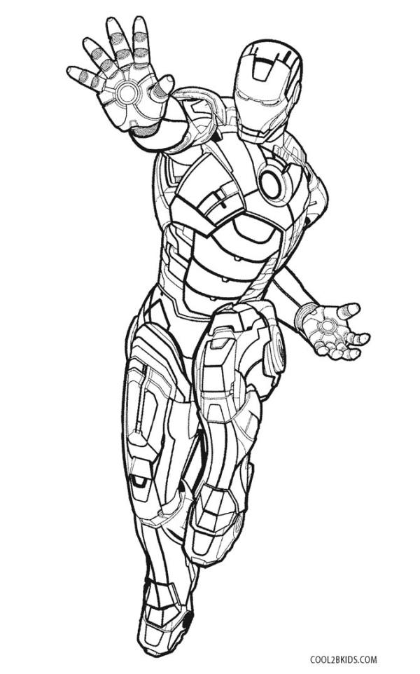 ironman coloring page # 2
