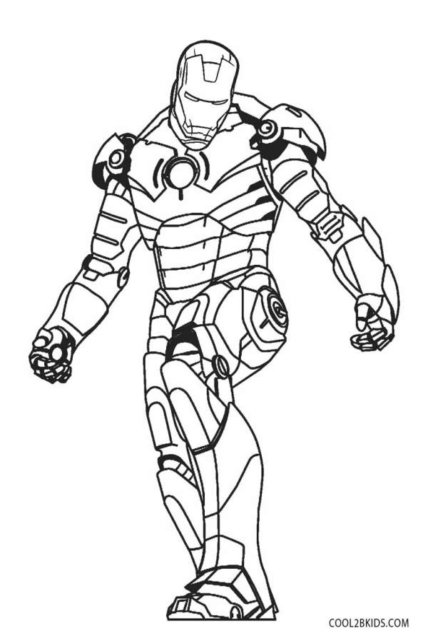 ironman coloring page # 20