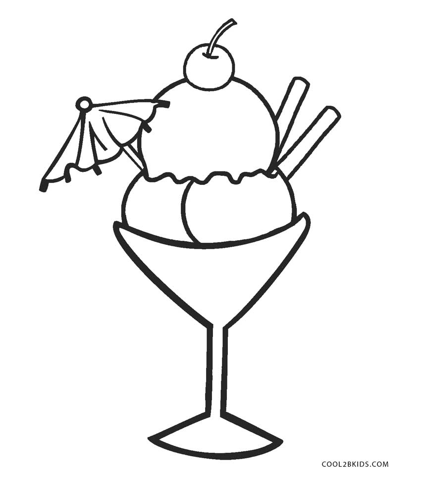 Ice Cream Sundae Coloring Page Free Coloring Pages Download | Xsibe ...