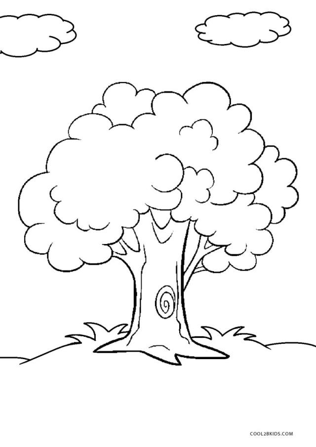 Free Printable Tree Coloring Pages For Kids
