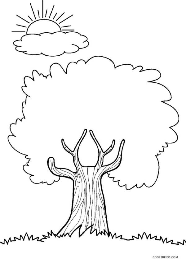 trees coloring pages # 7