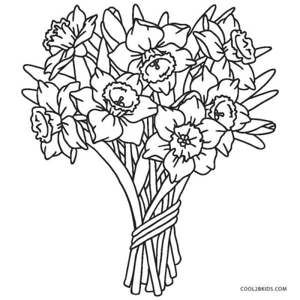 printable coloring pages of flowers # 9