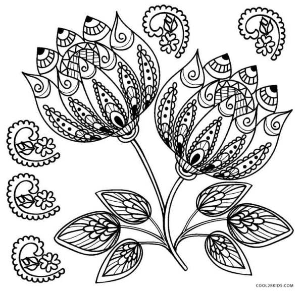 coloring pages flower # 17