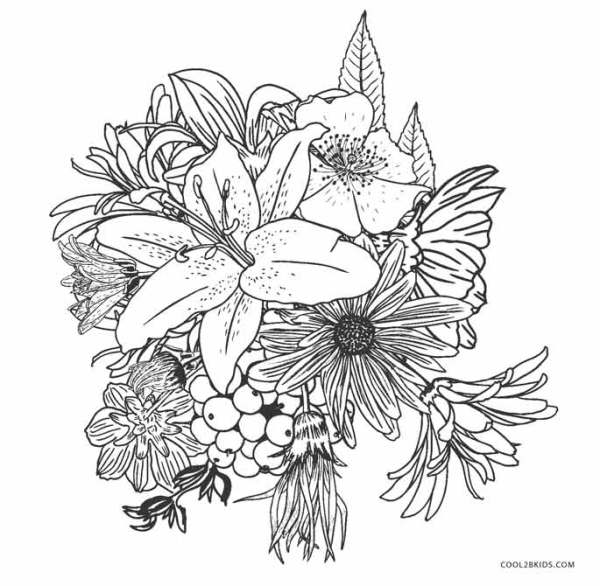 free coloring pages flowers # 12