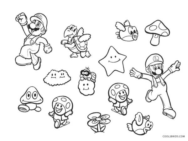 super mario brothers coloring pages # 0