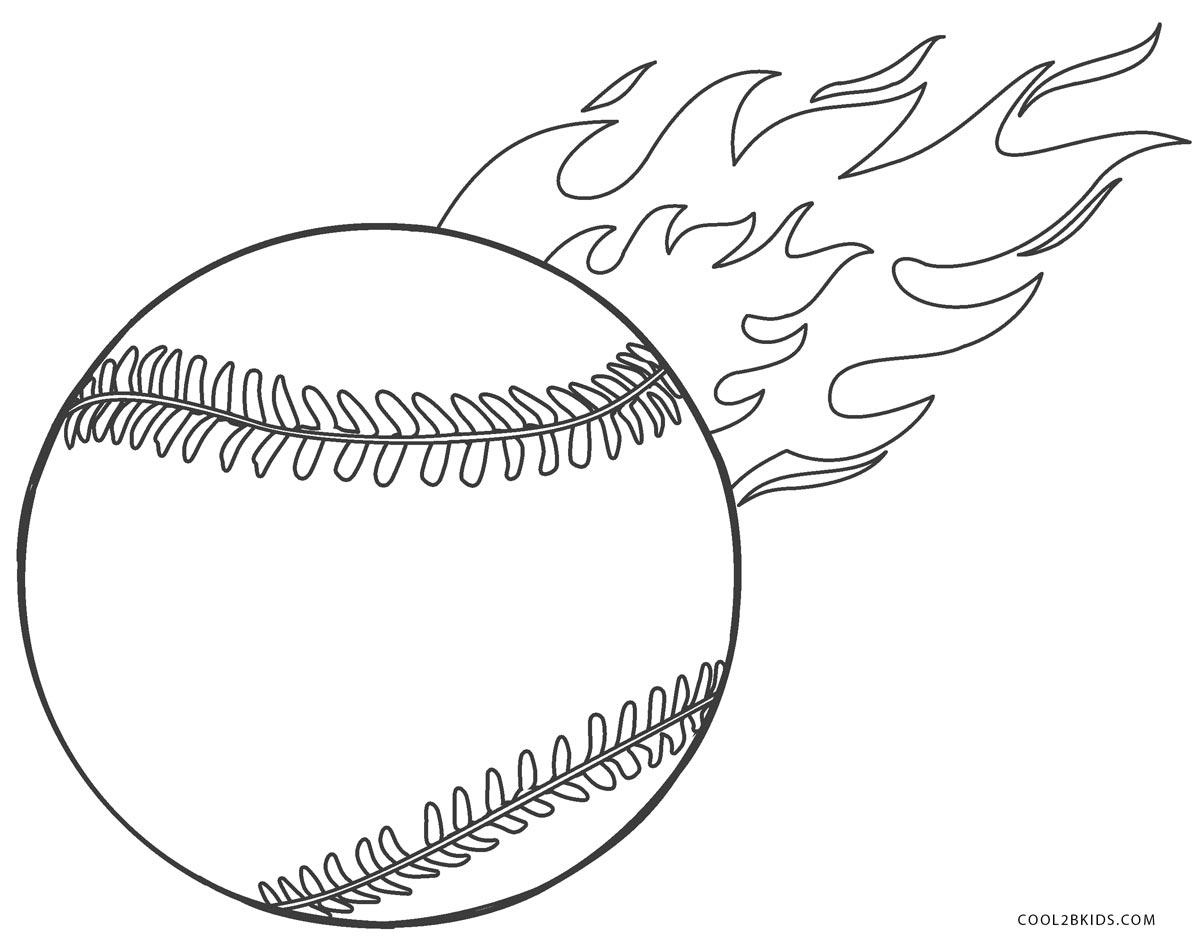 Baseball Coloring Page Coloring Page