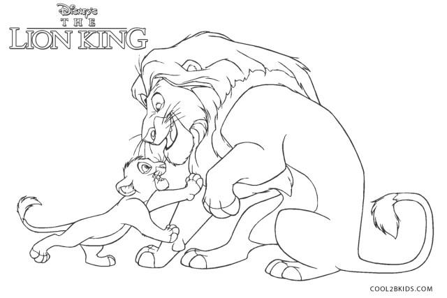 Coloriages - Roi Lion - Coloriages Gratuits à Imprimer