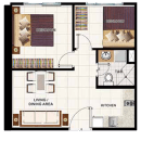 2 Bedroom without Balcony (S) - Wind Residences