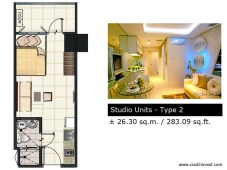 Breeze Residences - Studio Unit Type 2