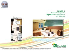 M Place South Triangle Unit Layout Tower C My PAD End Unit