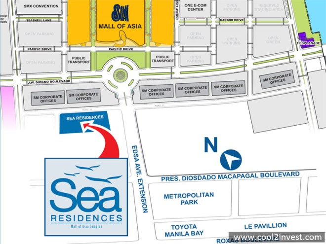 Sea Residences Location Map