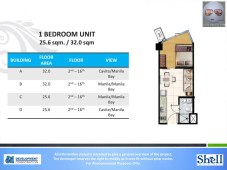 Shell Residences 1 Bedroom unit