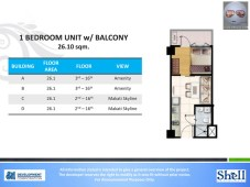 Shell Residences 1 Bedroom with Balcony