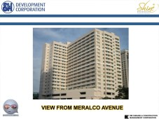 Shine Residences Building view from Meralco Ave