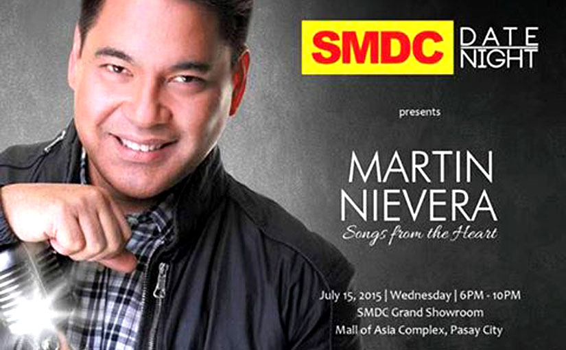 Be serenaded and entertained by Mr. Martin Nievera