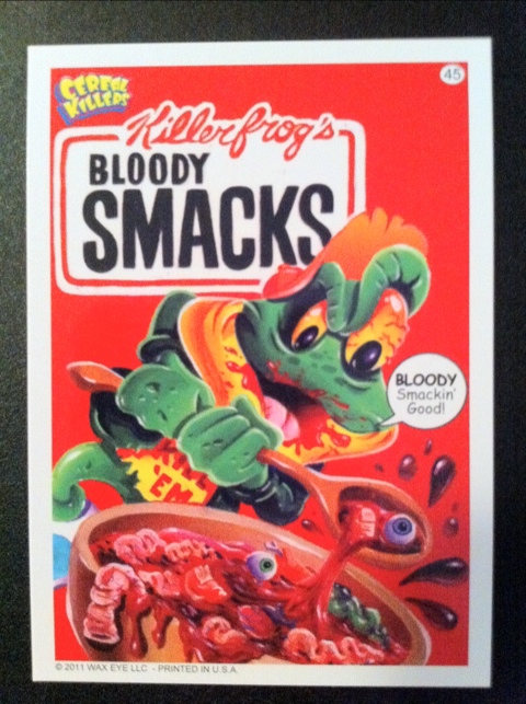 Wax Eyes Cereal Killers Trading Cards