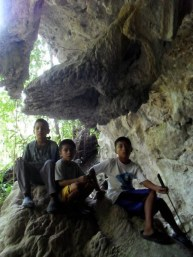 Mopan Maya Boys Prepare to Walk through Yok Balum Cave