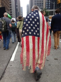 wrapped in the american flag