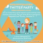Chat about kids and creativity Tuesday November 19 at 9:00 pm EST #creativitymatters #elemchat