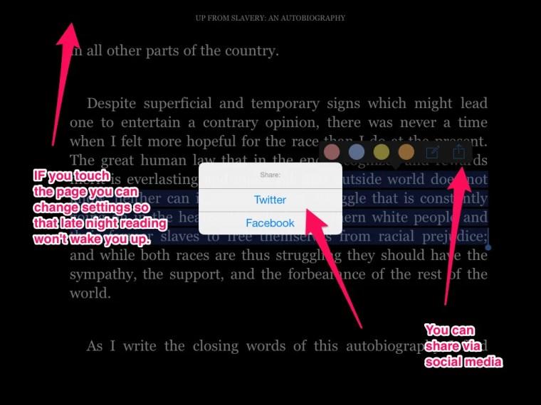 Figure xx - The Kindle app on the iPad