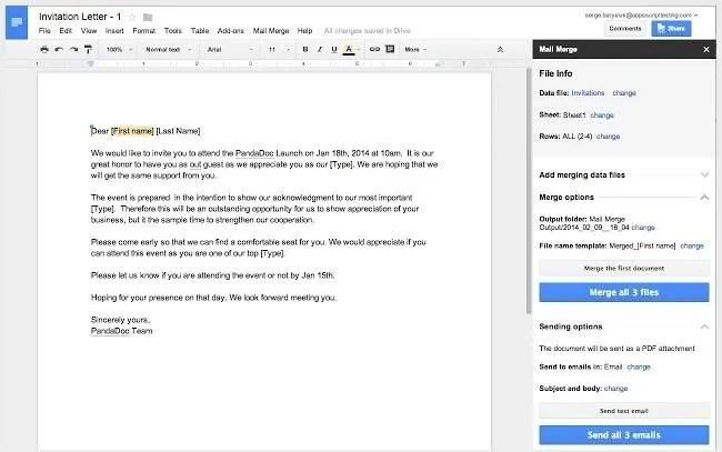 Google Drive Document Merge