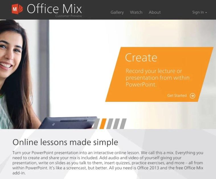Office Mix website