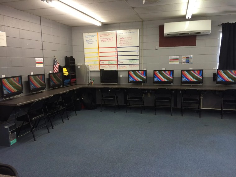 My classroom after the students left 6th period
