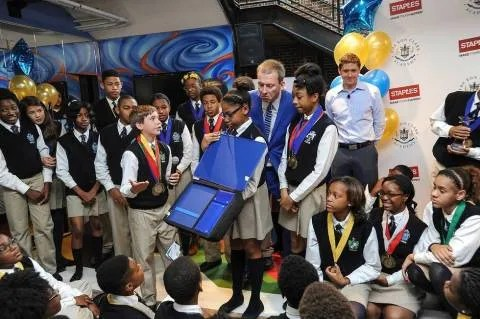 Staples worked with Ron Clark's students (pictured above) and others around the country during this past school year. The result is a new line of back-to-school products designed by kids.