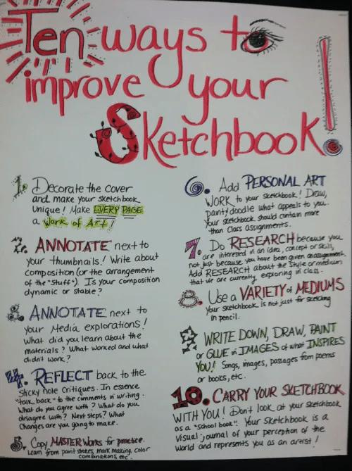 10 Ways to Improve Your Sketchbook