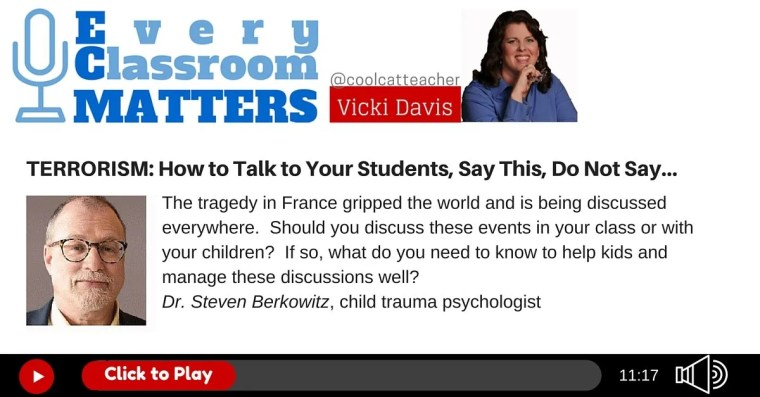 Talking to children about terrorism with Dr. Steven Berkowitz.