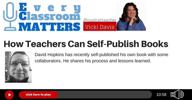 how teachers can self publish books with David Hopkins