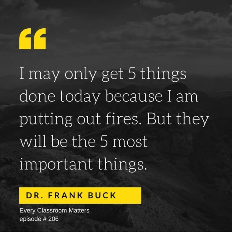 Dr. Frank Buck productivity secrets