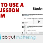 How to Teach Students Discussion Forums