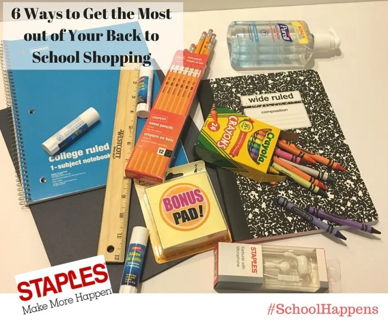 Back to School at Staples #SchoolHappens